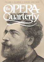 Opera Quarterly, Vol. 3, #1 – Spring, 1984