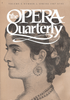Opera Quarterly, Vol. 5, #1 – Spring, 1987