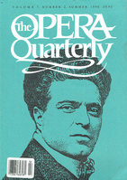 Opera Quarterly, Vol. 7, #2 – Summer, 1990