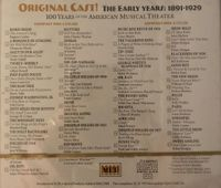 Original Cast! 100 Years of the American Musical Theater - The early years  (2-Metropolitan Opera Guild MET 801)