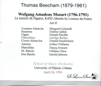 Sir Thomas Beecham, Vol. III - Nozze, Act II   (St Laurent Studio YSL T-929)