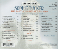 Sophie Tucker - The Last of the Red Hot Mamas  (ASV AJA 5611)