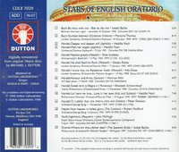 Stars of English Oratorio, Vol. II     (Dutton CDLX 7029)