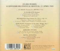 Clara Haskil    (Music & Arts 859)