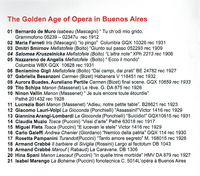 The Golden Age of Opera in Buenos Aires  (Malibran AMR 189)