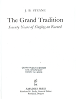 The Grand Tradition  ( J. B. Steane)      9780931340642    931340640
