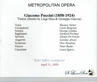 Tosca  (Adler;  Steber, Bergonzi, George London)   (2-St Laurent Studio YSL T-726)