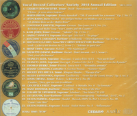 Vocal Record Collectors' Society - 2018 Issue   (VRCS-2018)