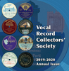Vocal Record Collectors' Society - 2019-20 Issue    (VRCS-2019-20)
