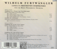 Wilhelm Furtwangler - Beethoven   (2-Music & Arts 869)