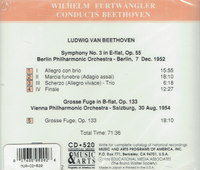 Wilhelm Furtwangler - Beethoven   (Music & Arts 520)