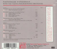 Wilhelm Furtwangler on Tour in Stockholm   (Music & Arts 802)