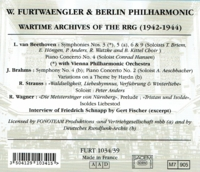 Wilhelm Furtwangler - Wartime Archives  (6-Tahra FURT 1034/39)