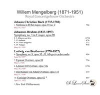 Willem Mengelberg, Vol. III - Concertgebouw - Columbia   (St Laurent Studio YSL 78-1017)