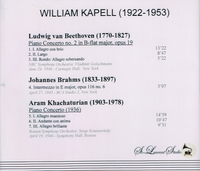 William Kapell, Vol. I;   Koussevitzky,  Golschmann    (St Laurent Studio YSL 78-076)