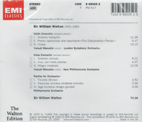 William Walton;  Yehudi Menuhin     (EMI 65005)