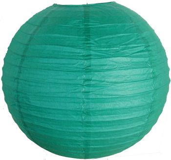 "10"" Teal Blue Green Paper Lantern"