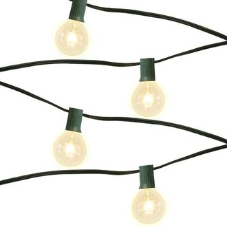 10 Socket 14ft 11in Green Globe String Lights with 405W Bulbs