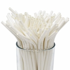 100pcs Premium Biodegradable Flexible Bendable Paper Straws (Solid, White) - Premier