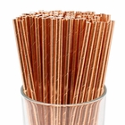 100pcs Premium Biodegradable Solid Paper Straws (Solid, Metallic Rose Gold) - Premier