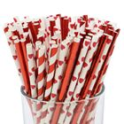 100pcs Premium Biodegradable Valentines Day Paper Straws (Color: Cupid) - Premier