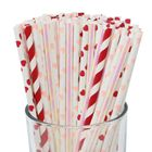 100pcs Premium Biodegradable Valentines Day Paper Straws (Color: Galentines) - Premier
