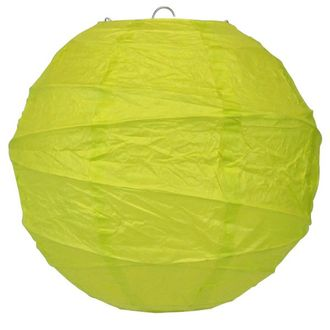 10inch Free Style Paper Lantern Yellow Green