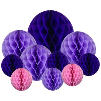 10pcs Decorative Assorted Honeycomb Balls (Fairytale) - Premier