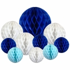 10pcs Decorative Assorted Honeycomb Balls (Winter) - Premier
