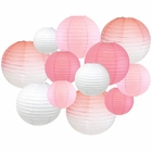 12 Assorted Ombre Paper Lanterns Pink (Ombre) - Premier