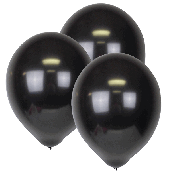 "12"" ECO Latex Balloons 10pcs Charcoal"