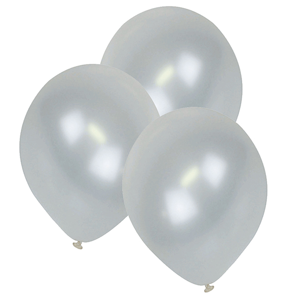 "12"" ECO Latex Balloons 10pcs Pearl White"