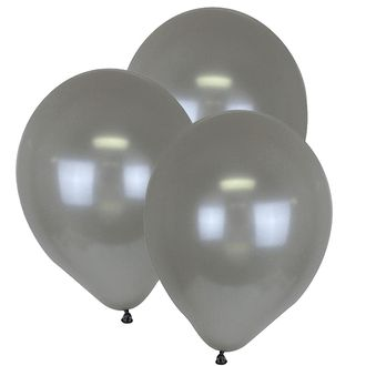 "12"" ECO Latex Balloons 10pcs Silver"