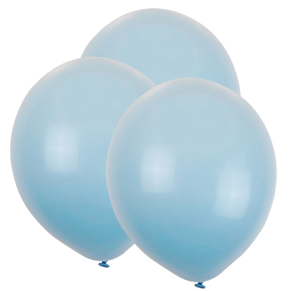 "12"" Latex Balloons 100pcs Baby Blue"