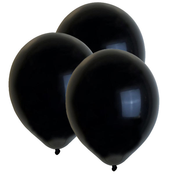 "12"" Latex Balloons 100pcs Black"