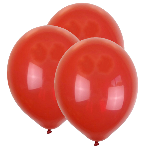 "12"" Latex Balloons 100pcs Cherry Red"