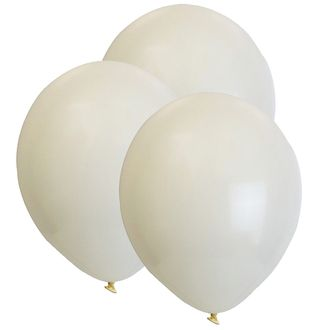 "12"" Latex Balloons 100pcs Ivory"