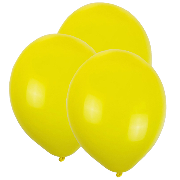 "12"" Latex Balloons 100pcs Lemon Yellow"