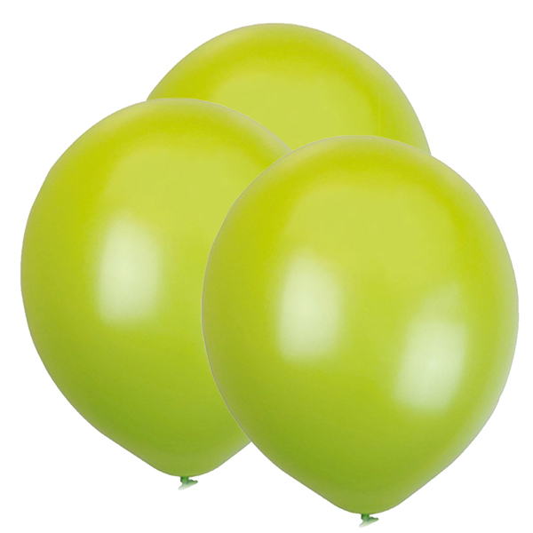 "12"" Latex Balloons 100pcs Lime"