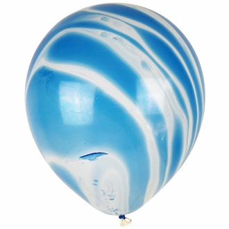 "12"" Latex Balloons 100pcs Marble Blue"