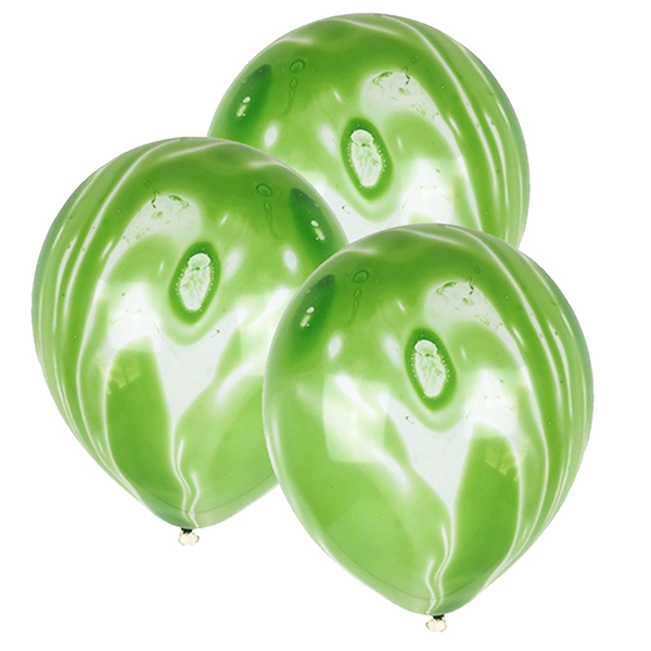 "12"" Latex Balloons 100pcs Marble Green"