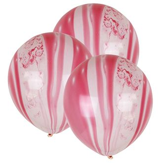 """12"""" Latex Balloons 100pcs Marble Red"""