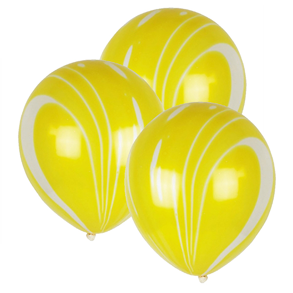 "12"" Latex Balloons 100pcs Marble Yellow"