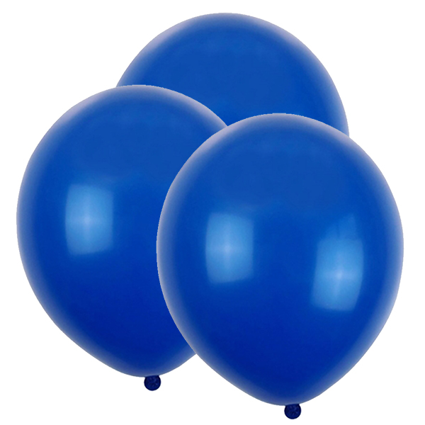 "12"" Latex Balloons 100pcs Royal Blue"