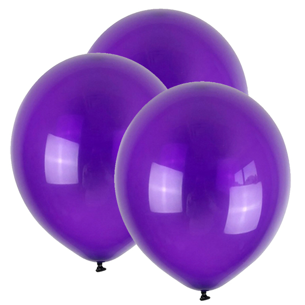 "12"" Latex Balloons 100pcs Royal Purple"