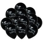 "12"" Latex Balloons 25pcs Black Mermaid Birthday"