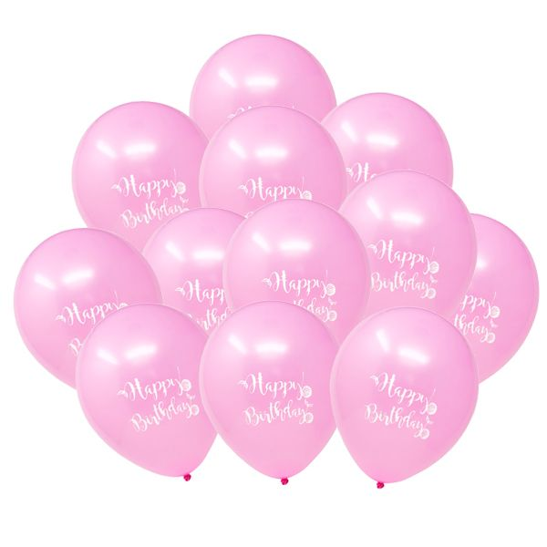 "12"" Latex Balloons 25pcs Pink Mermaid Birthday"