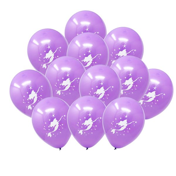 "12"" Latex Balloons 25pcs Purple Magical Mermaid"