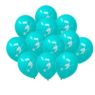"12"" Latex Balloons 25pcs Teal Magical Mermaid"