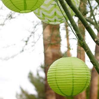 "12"" Light Green Paper Lantern"